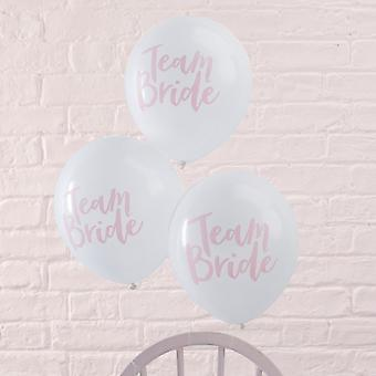 Team Bride Hen Party Balloons | Pink Bridal Shower Decorations x10