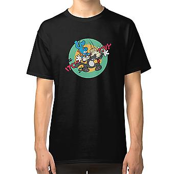 Namnlös T-shirt The Itchy And Scratchy Show Simpson Bilmasker