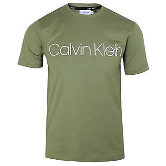 Calvin klein men's delta green logo t-shirt