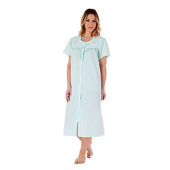 Slenderella ND55202 Women's Mint Embroidered Nightdress