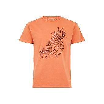 Hermie Organic Cotton T-Shirt Petrol Blue