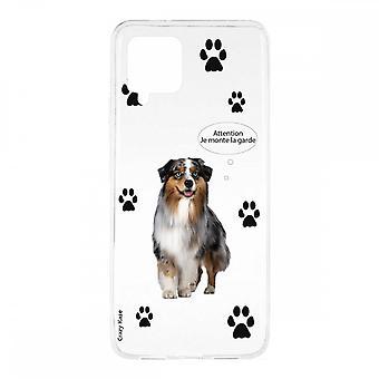 Scafo per Samsung Galaxy A42 5g in silicone flessibile 1 mm, cane da pastore australiano