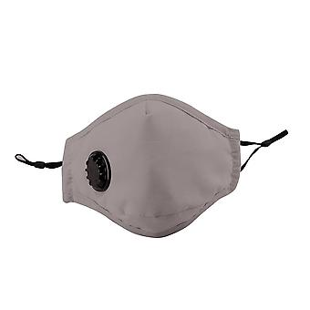 Mouth cover with 2 filters dustproof respirator breathing valve washable reusable stop fog pm2.5