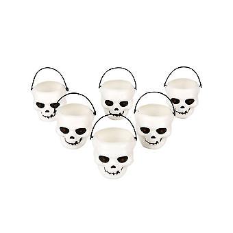 6 Mini emmers dood hoofd Halloween