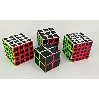 Magic Cube Zestaw 2x2x2, 3x3x3, 4x4x4, 5x5x5 Carbon Fiber Sticker Speed Puzzle Pack
