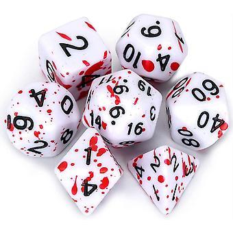 FengChun DD Wrfel Set mit Unregelmigen Sprhen Sie rote Punkte Polyeder Rolle Spielen Gaming Wrfel