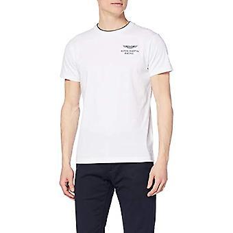 Hackett Amr DBL Rib Tee T-shirt, White (Optic White 802), XX-Large Man