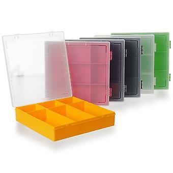 Wham Opbergdoos 29cm (10.03) 6 Compartiment Scharnierende Organizer Box