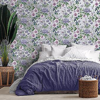 Amazonia Passiflora Silver Wallpaper Holden 91323