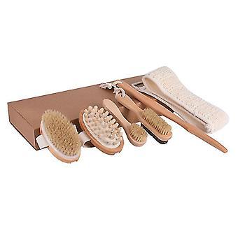 Body  Bath Brush Set , Effective Back Brush Exfoliation,used For Wet Or Dry Brushing