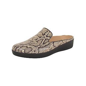 Slip in pelle Fitflop Donna Superskate su scarpe mulo