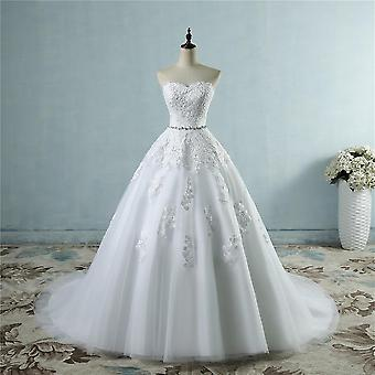 Lace Flower Sweetheart Wedding Dresses For Brides