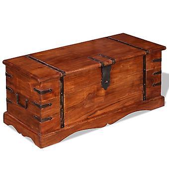 vidaXL almacenamiento de madera maciza de pecho