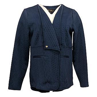 DG2 af Diane Gilman Kvinders Sweater Reg Cardigan Blue 740978