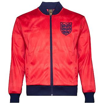 Score Draw Mens England 1990 Away Retro Track Jacket Licensed Tracksuit Top