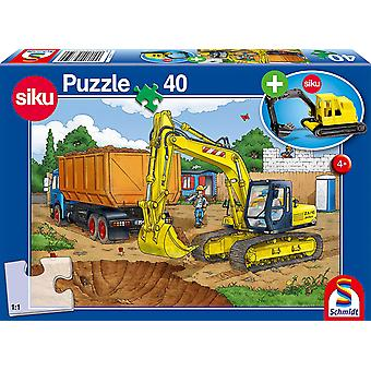 Digger 40 Piece Jigsaw With SIKU Model
