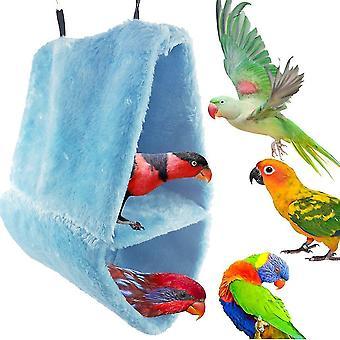 Large Double Velvet Nest Parrot Bird Nest Cotton Hammock Triangle Cage