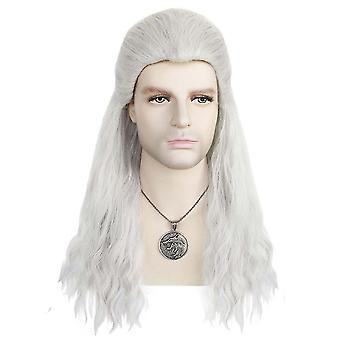 Parrucche di gioco The Witcher Cosplay Wig Cap