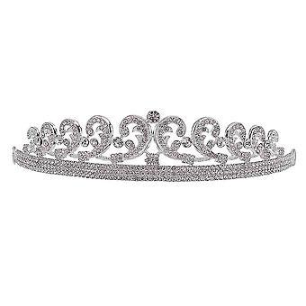 Coroa da Noiva Tiara Alloy Rhinestone Casamento Princesa Diadema