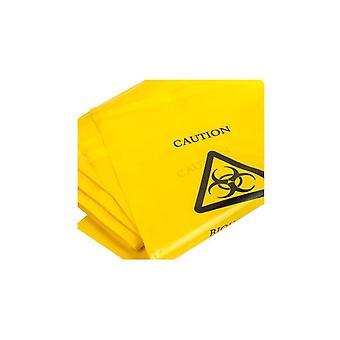 أكياس الخطر البيولوجي الأصفر | 35 سم × 20 سم | | التخلص السريري ختم الذاتي معدات الوقاية الشخصية - 500