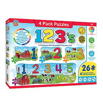 Masterpieces Puzzle Educational (4 Pack)