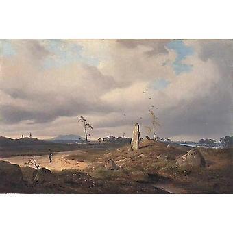 Landschaft mit Runenstein,Andreas Achenbach