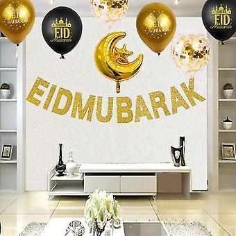 Eid Mubarak Ramadan Feier Dekoration Latex-Luftballons zum Aufhängen