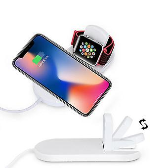Zikko Zw8050 2in1 Wireless Charging Fast Charging Base For Apple Iphone Watch X Xs 8 Samsung Galaxy Note9