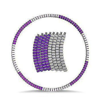 Copoz Vægtet Hula Hoop for voksne, Vægttab Øvelse hula ring med rustfrit (Purple Gray)