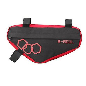 Mountain bike triangle bag, bicycle front beam package(Red)