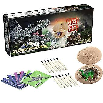 Dinosaur Toys, Dinosaur Egg Dig Kit Kids Gifts,complete With 12 Dinosaur Eggs,archaeology Science