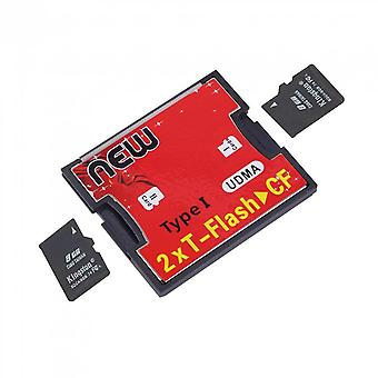 2 Ports Tf For Sdhc To Type I 1 Compact Flash Card Cf Reader Adapter