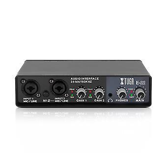 E22 Audio Interface -äänikortti, jossa valvonta, sähkökitara live-tallennus