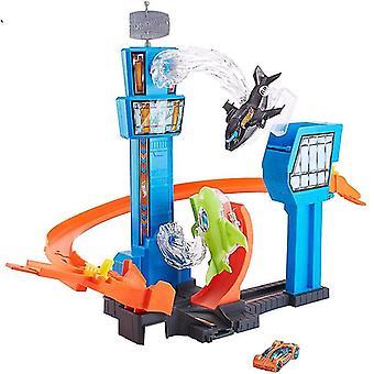 Hot Wheels Racing Auto/Mega Jump Track Set/lustiges Spiel Spielen Flughafen fliegendes Auto