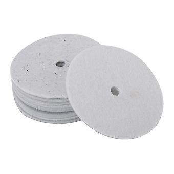 Snare drums 10pcs high quality wool felt round shape snare drum felt pad white gray