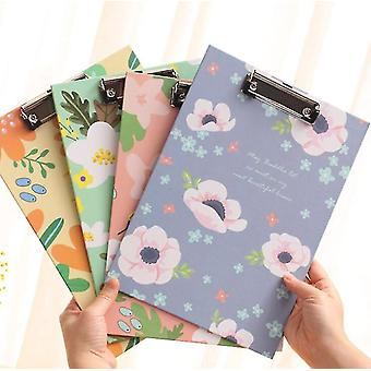 Flower Clipboard Fold-over Word Pad Vertical Fashion Writing Board Stationery