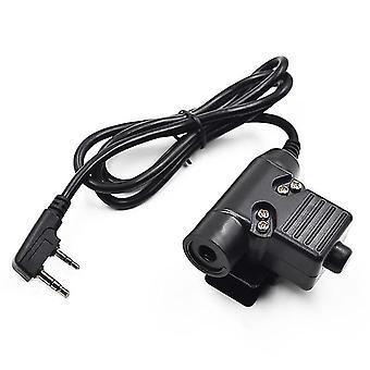U94 Ptt Cable Plug Headset Adapter For Kenwood Baofeng