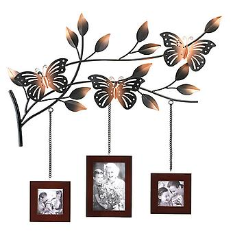 Accent Plus Metal Butterfly Wall Picture Frames Decor, Pack of 1