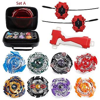 (Set A) 8pc/Set Burst Beyblade With Launcher Portable