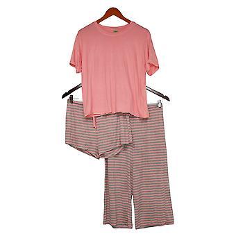 Honeydew Women's Ladies' Palazzo 3-Piece Pajama Set Pink
