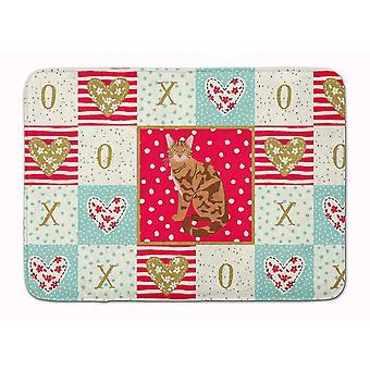 Bath mats rugs carolines treasures ck5741rug bengal cat love machine washable memory foam mat
