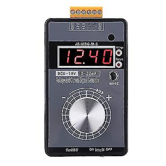 Metal detectors 0-10v/0-20ma handheld digital signal generator with rechargeable battery pocket adjustable voltage