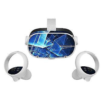 Naklejka winylowa na skórę do oculus quest 2 vr headset controller pvc naklejki cute cartoon wrap cover for