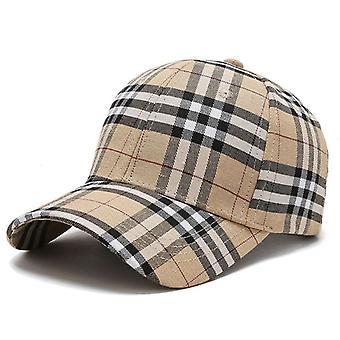 Baseball Hats Golf Caps Duckbill Hat Fashion Plaid Pattern Cap For Men