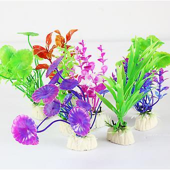 Akvaario Akvaario Muovikasvit, 8 Akvaario Kalasäiliön koristeet, Keinotekoinen Akvaario Kalasäiliön koristeet (satunnainen tyyli)