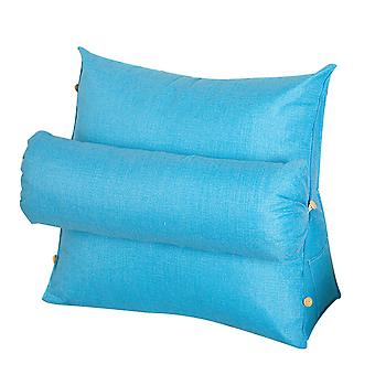 Seeunique Triangle Back Pillow,back Wedge Cushion Pillow With Adjustable Neck Pillow And Pockets,removable And Washable