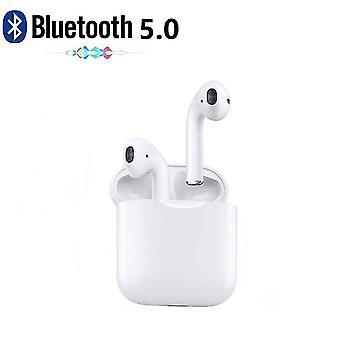 Bluetooth I12 Tws Hodetelefon Hodesett Ipx 5 Med Dokkingstasjon, Trådløs Lading Hvit - Ios, Android