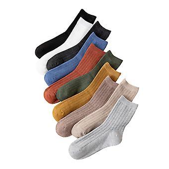 High Ankle Baumwolle Casual Socken für Frauen Männer 10Er Pack