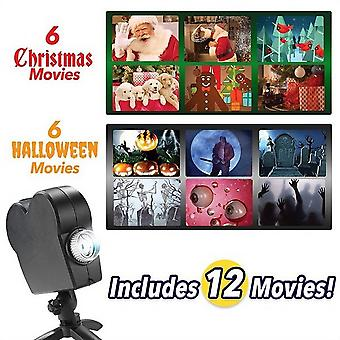 Halloween And Christmas Holographic Projection Laser Projector, Wonderland Lights