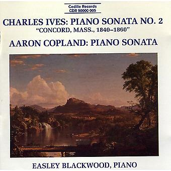 Easley Blackwood - Charles Ives: Piano Sonata No. 2 (Concord, Mass., 1842-1860); Aaron Copland: Piano Sonata [CD] USA import
